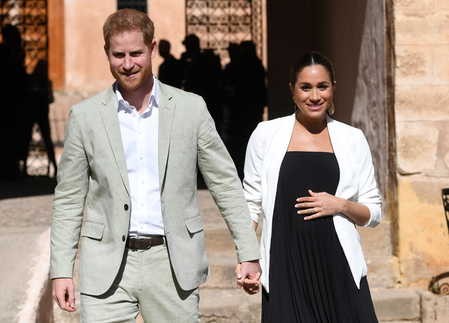 FILE PHOTO: Britain's Meghan, Duchess of Sussex and Prince Harry the Duke of Sussex visit the Andalusian Gardens in Rabat, Morocco February 25, 2019. Facundo Arrizabalaga/Pool via REUTERS/File Photo