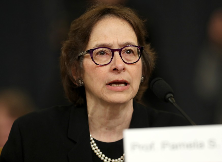 WASHINGTON, DC – DECEMBER 4:  Constitutional scholar Pamela Karlan of Stanford University testifies before the House Judiciary Committee in the Longworth House Office Building on Capitol Hill December 4, 2019 in Washington, DC. This is the first hearing held by the Judiciary Committee in the impeachment inquiry against U.S. President Donald Trump, whom House Democrats say held back military aid for Ukraine while demanding it investigate his political rivals. The Judiciary Committee will decide whether to draft official articles of impeachment against President Trump to be voted on by the full House of Representatives. (Photo by Chip Somodevilla/Getty Images)