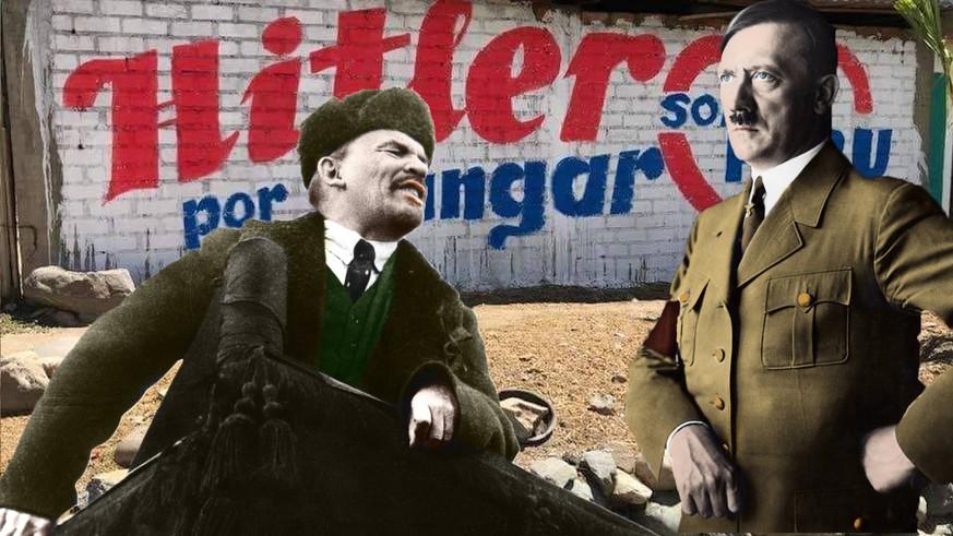 Hitler ve Lenin Peru seçimlerinde karşı karşıya