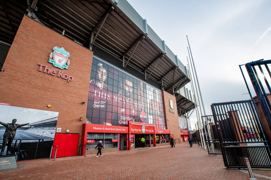 general view of Anfield stadium during the UEFA Champions League round of 16 match between Liverpool FC and Bayern Munich at Anfield on February 19, 2019 in Liverpool, United Kingdom UEFA Champions League 2018/2019 xVIxVIxImagesx/xTomxBodexMultimediaxIVx PUBLICATIONxINxGERxSUIxAUTxONLY 13676805