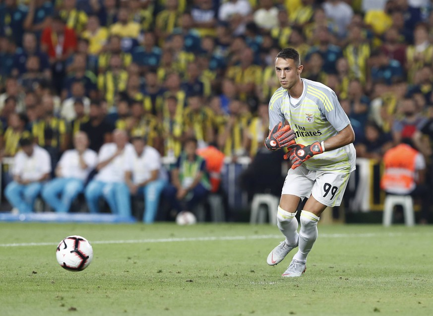 Goalkeeper Odisseas Vlachodimos of Benfica during the UEFA Champions League qualifying second leg match between Fenerbahce and Benfica at Ulker Arena in Istanbul , Turkey on August 14 , 2018. PUBLICATIONxNOTxINxTUR