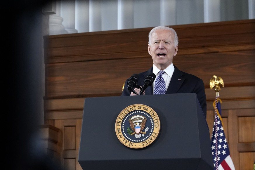 19.03.2021, USA, Atlanta: Joe Biden, Pr