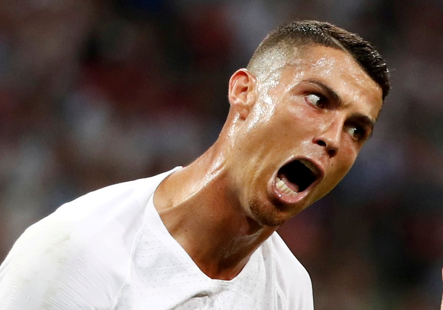 FILE PHOTO: Soccer Football - World Cup - Round of 16 - Uruguay vs Portugal - Fisht Stadium, Sochi, Russia - June 30, 2018   Portugal's Cristiano Ronaldo reacts        REUTERS/Murad Sezer/File Photo