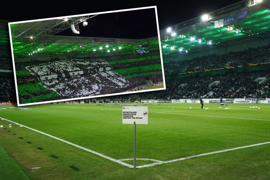 MOENCHENGLADBACH, GERMANY - DECEMBER 12: General view inside the stadium prior to the UEFA Europa League group J match between Borussia Moenchengladbach and Istanbul Basaksehir F.K. at Borussia-Park on December 12, 2019 in Moenchengladbach, Germany. (Photo by Lars Baron/Getty Images)