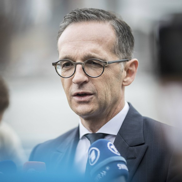 Bundesaussenminister Heiko Maas, SPD, aufgenommen waehrend eines Pressestatements im Stadtteil Brooklyn in New York, 28.09.2018. Heiko Maas nimmt an der 73. Generalversammlung der Vereinten Nationen (United Nations) teil. New York USA *** Federal Foreign Minister Heiko Maas SPD arrested during a press statement in the Brooklyn district of New York 28 09 2018 Heiko Maas attends the 73 United Nations General Assembly United Nations New York USA PUBLICATIONxINxGERxSUIxAUTxONLY Copyright: xFlorianxGaertner/photothek.netx