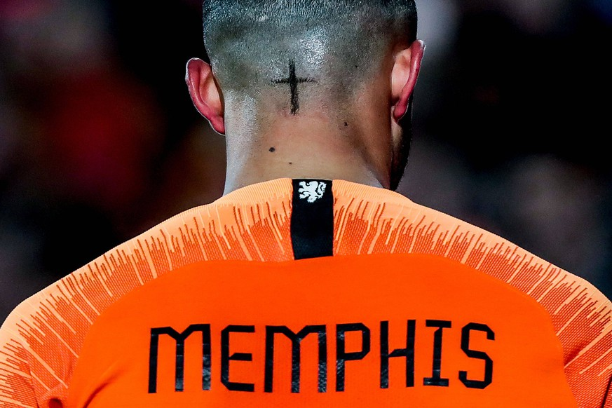ROTTERDAM - Netherlands - France , Football , Season 2018/2019 , Nations League , Stadion Feijenoord de Kuip , 16-11-2018 , result 2-0 , Netherlands player Memphis Depay Netherlands - France PUBLICATIONxNOTxINxNED x2627820x