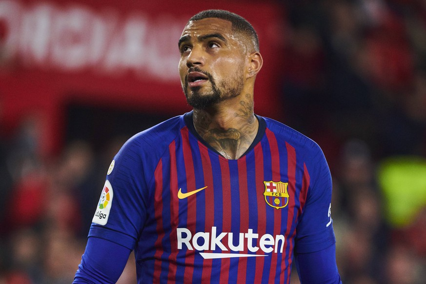 23.01.2019, xslx, Fussball Copa del Rey, FC Sevilla - FC Barcelona Barca emspor, v.l. Kevin Prince Boateng (FC Barcelona) (DFL/DFB REGULATIONS PROHIBIT ANY USE OF PHOTOGRAPHS as IMAGE SEQUENCES and/or QUASI-VIDEO) Sevilla *** 23 01 2019 xslx Football Copa del Rey FC Sevilla FC Barcelona emspor v l Kevin Prince Boateng FC Barcelona DFL DFB REGULATIONS PROHIBIT ANY USE OF PHOTOGRAPHS as IMAGE SEQUENCES and or QUASI VIDEO Sevilla