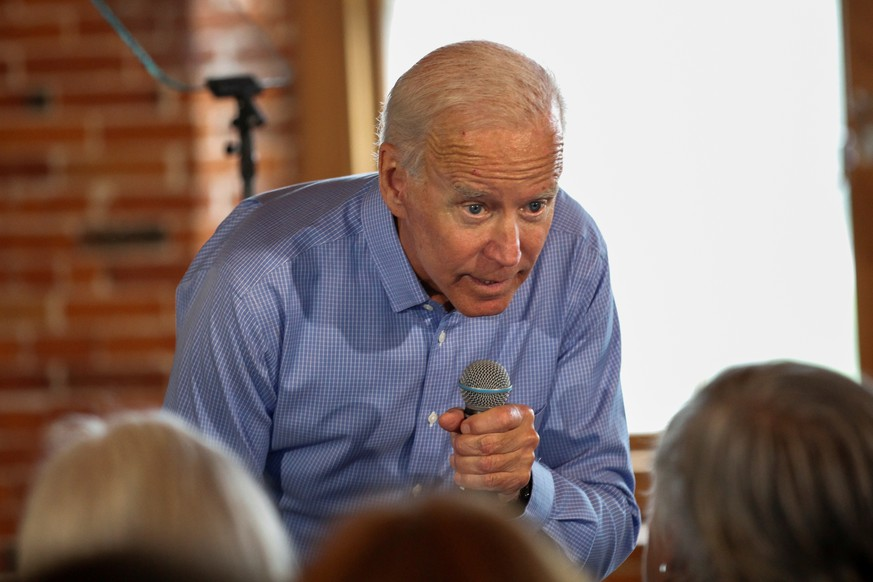 Democratic 2020 U.S. presidential candidate and former Vice President Joe Biden answers a question at a campaign town hall meeting in Laconia, New Hampshire, U.S., September 6, 2019.   REUTERS/Elizabeth Frantz
