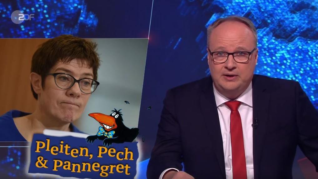 """AKK nur Praktikantin? """"Heute-Show"""" zieht über CDU-Chefin her"""
