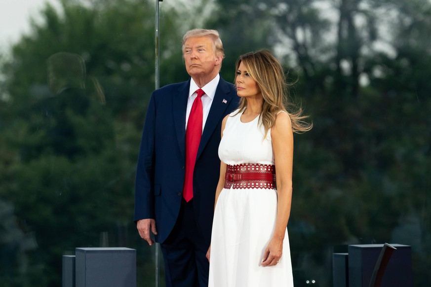 July 4, 2020, Washington, The District of Columbia, United States Of America: President Donald J. Trump and First Lady Melania Trump attend the 2020 Salute to America event Saturday, July 4, 2020, on the South Lawn of the White House..People: President Donald Trump, Melania Trump. Washington United States Of America - ZUMAn287 20200704_zaa_n287_007 Copyright: xSMGx