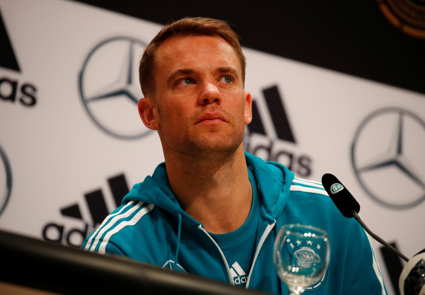 Soccer Football - World Cup - Germany Press Conference - Moscow, Russia - June 19, 2018   Germany's Manuel Neuer during the press conference   REUTERS/Axel Schmidt