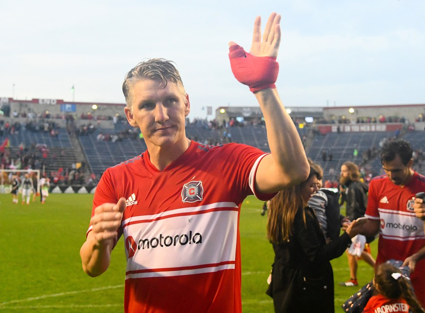 MLS, Fussball Herren, USA Toronto FC at Chicago Fire, Sep 29, 2019 Chicago, IL, USA Chicago Fire midfielder Bastian Schweinsteiger 31 reacts after a game against the Toronto FC at SeatGeek Stadium. Mandatory Credit: Mike DiNovo-USA TODAY Sports/Sipa USA/AAP Image ACHTUNG: NUR REDAKTIONELLE NUTZUNG, KEINE ARCHIVIERUNG UND KEINE BUCHNUTZUNG Bridgeview IL United States PUBLICATIONxINxGERxSUIxAUTxONLY Copyright: xUSAxTODAYxNetworkx 20190930001423263837