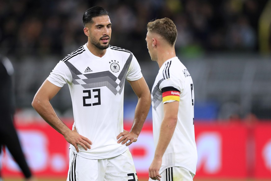 CAN Emre Team Deutschland mit KIMMICH Joshua DFB Fussball Laenderspiel Deutschland - Argentinien 2:2 am 09.10. 2019 in Dortmund DFB regulations prohibit any use of photographs as image sequences and/or quasi-video  CAN Emre Team Germany with KIMMICH Joshua DFB football international Germany Argentina 2 2 on 09 10 2019 in Dortmund DFB regulations prohibit any use of photographs as image sequences and or quasi video PUBLICATIONxINxGERxSUIxAUTxHUNxSWExNORxDENxFINxLUXxONLY