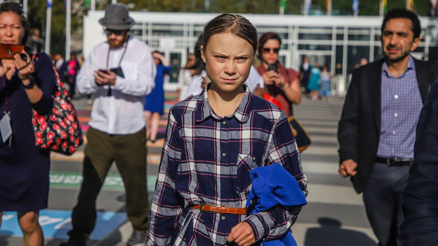 September 21, 2019, New York, New York, United States of America: Swedish activist Greta Thunberg during the Climate Summit at UN headquarters in New York on Saturday 21 September New York United States of America PUBLICATIONxINxGERxSUIxAUTxONLY - ZUMAc233 42528753st Copyright: xVanessaxCarvalhox