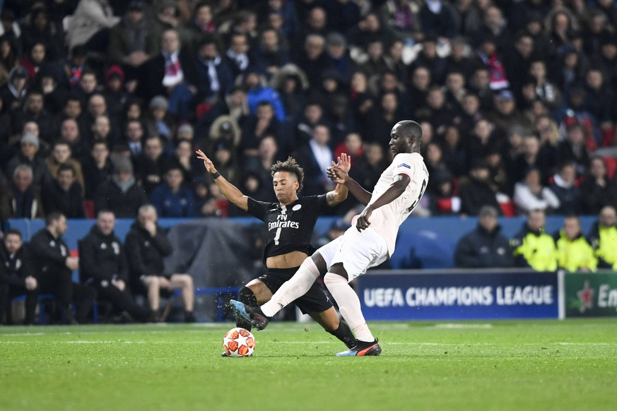 09 ROMELU LUKAKU (MAN) - 04 THILO KEHRER (PSG) FOOTBALL : Paris SG vs Manchester United ManU - Ligue des Champions - 06/03/2019 AnthonyBIBARD/FEP/Panoramic PUBLICATIONxNOTxINxFRAxITAxBEL
