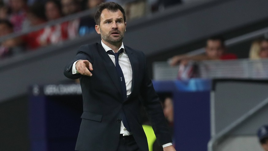 Club Brugge s head coach Ivan Leko pictured during the match between Belgian soccer team Club Brugge KV and Atletico Madrid, in group A on day two the UEFA Champions League, in Mardid, Spain, Wednesday 03 October 2018. BRUNOxFAHY PUBLICATIONxINxGERxSUIxAUTxONLY x05440296x