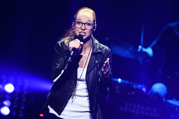 HANOVER, GERMANY - MARCH 05:  Singer Stefanie Heinzmann during the finals of the TV show 'Our Star For Austria' (german title: Unser Song fuer Oesterreich) on March 5, 2015 in Hanover, Germany. 'Our Star For Austria' is a national contest to vote for the German contestant for the 60th Eurovision Song Contest taking place in Vienna, Austria in May 2015.  (Photo by Nigel Treblin/Getty Images)