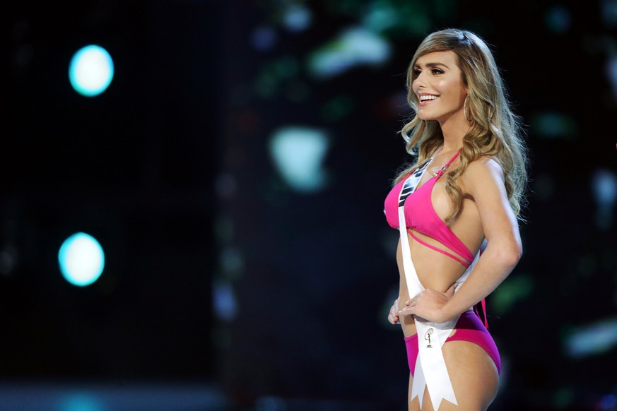 Miss Spain Angela Ponce in her swimsuit during the Miss Universe 2018 preliminary round in Bangkok, Thailand, December 13, 2018. REUTERS/Athit Perawongmetha
