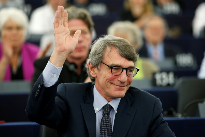 Italian MEP David-Maria Sassoli (S&D Group), candidate for the presidency of the European Parliament, takes part in a voting session to elect the new president of the European Parliament during the first plenary session of the newly elected European Assembly in Strasbourg, France, July 3, 2019. REUTERS/Vincent Kessler
