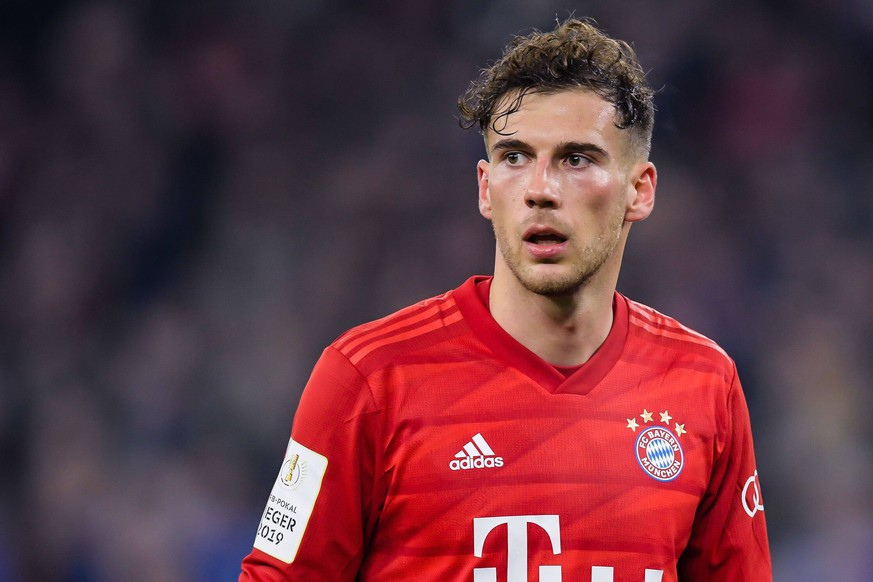 Leon Goretzka of FC Bayern Munich during the German DFB Pokal quarter final match between FC Schalke 04 and Bayern Munich at the Veltins Arena on March 03, 2020 in Gelsenkirchen, Germany German DFB Pokal 2019/2020 xVIxANPxSportx/xGerritxvanxKeulenxIVx 407781985