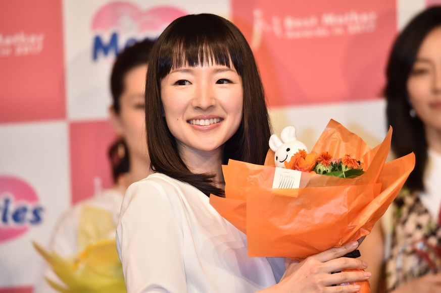 Author Marie Kondo attends the 10th annual Best Mother Award in Tokyo, Japan on May 11, 2017. PUBLICATIONxINxGERxSUIxAUTxHUNxONLY (vzta004860)
