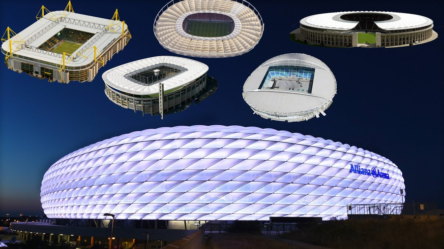 Fussball International Audi Cup 2015 Saison 2015/2016 03.08.2015 Aussenansicht Allianz Arena PUBLICATIONxNOTxINxAUTxSUIxITA