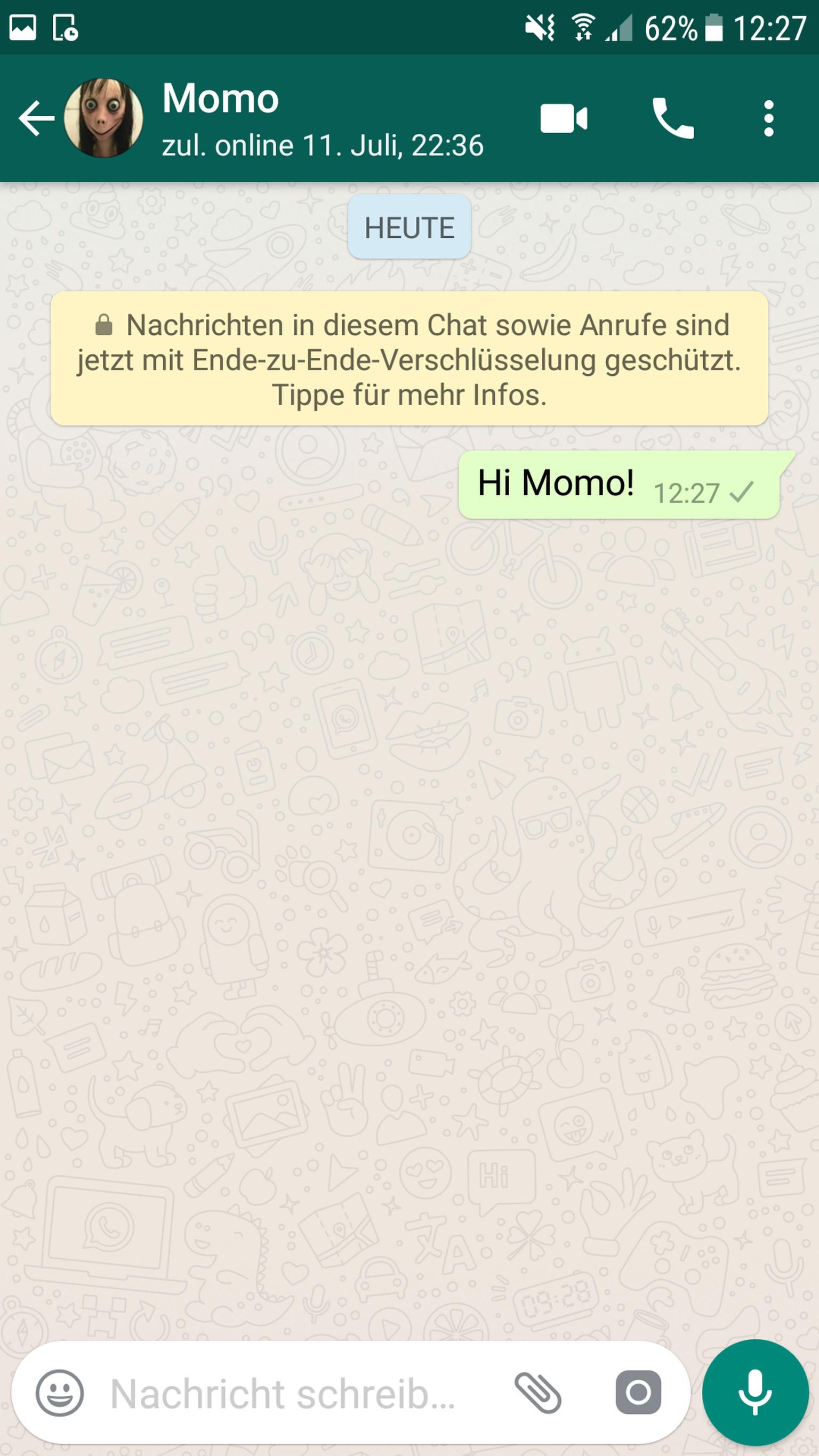 Das Steckt Hinter Dem Gruseligen Whatsapp Account Momo