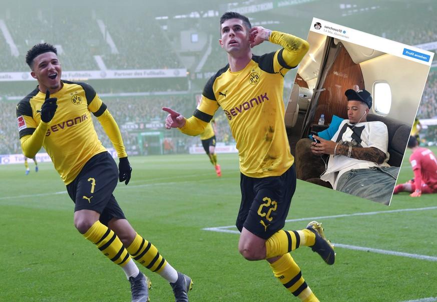 BVB-Star Sancho postet Bild aus Privatjet – Pulisic lacht über ein kleines Detail