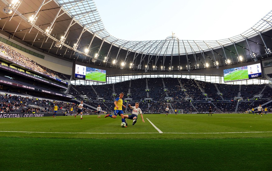 General action showing the new stadium during the Test Event match at Tottenham Hotspur Stadium, London. Picture date: 24th March 2019. Picture credit should read: Robin Parker/Sportimage PUBLICATIONxNOTxINxUK DSC_0809.JPG