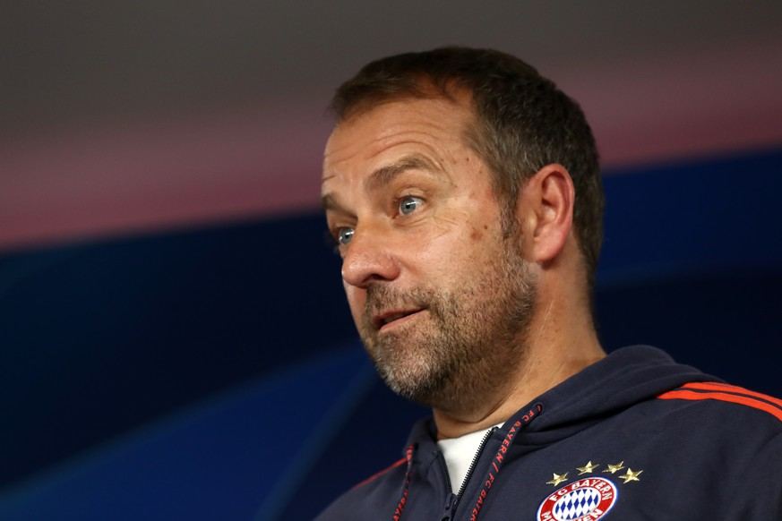 MUNICH, GERMANY - NOVEMBER 05: Newly appointed head coach of Bayern Muenchen Hans-Dieter Flick speaks to the media during a press conference, PK, Pressekonferenz at Saebener Strasse training ground on November 05, 2019 in Munich, Germany. FC Bayern Muenchen will face Olympiacos FC during the UEFA Champions League group B match on November 6, 2019. Photo by Alexander Hassenstein/Bongarts/Getty Images *** MUNICH, GERMANY NOVEMBER 05 Newly appointed head coach of Bayern Muenchen Hans Dieter Flick speaks to the media during a press conference at Saebener Strasse training ground on November 05, 2019 in Munich, Germany FC Bayern Muenchen will face Olympiacos FC during the UEFA Champions League group B match on November 6, 2019 Photo by Alexander Hassenstein Bongarts Getty Images