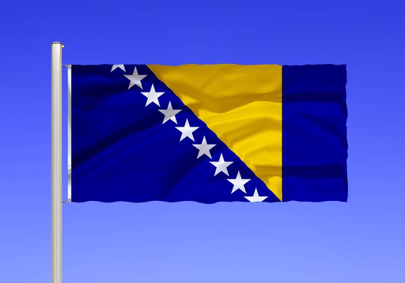 Flagge von Bosnien und Herzegowina McPKST *** Flag of Bosnia and Herzegovina McPKST McPKST