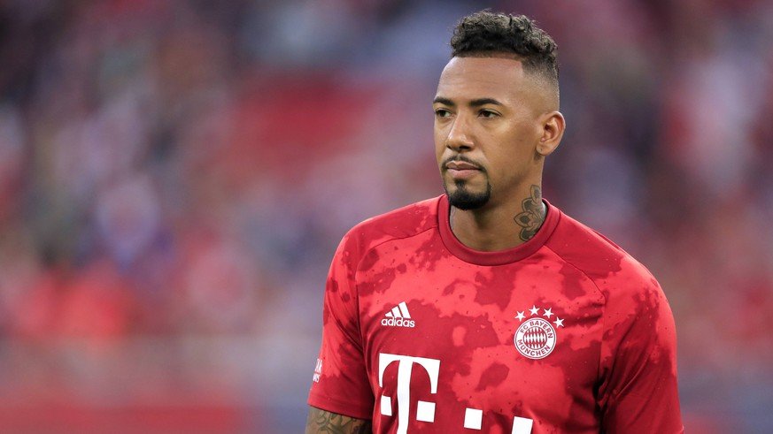 BOATENG Jerome Team FC Bayern Muenchen DFL Bundesliga Saison 2019-2020 Spiel FC Bayern Muenchen - Hertha BSC Berlin 2 : 2 in der Allianzarena am 16.August 2019 in Muenchen DFL REGULATIONS PROHIBIT ANY USE OF PHOTOGRAPHS as IMAGE SEQUENCES and/or QUASI-VIDEO *** BOATENG Jerome Team FC Bayern Muenchen DFL Bundesliga Season 2019 2020 Game FC Bayern Muenchen Hertha BSC Berlin 2 2 in the Allianzarena on 16 August 2019 in Munich DFL REGULATIONS PROHIBIT ANY USE OF PHOTOGRAPHS as IMAGE SEQUENCES and or QUASI VIDEO PUBLICATIONxINxGERxSUIxAUTxHUNxSWExNORxDENxFINxLUXxONLY