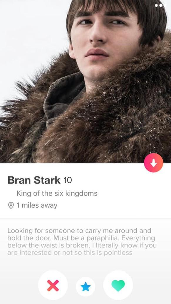 Game of Thrones: So sähen die Tinder-Profile von Jon Snow
