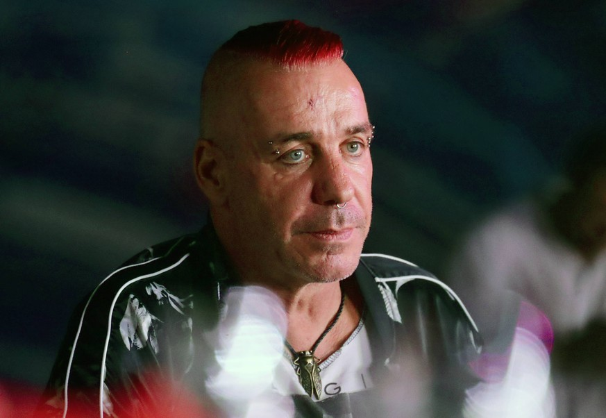 BAKU, AZERBAIJAN - JULY 26, 2019: Till Lindemann, lead vocalist of the German band Rammstein, attends the 2019 Zhara music festival. Vyacheslav Prokofyev/TASS PUBLICATIONxINxGERxAUTxONLY TS0B4764