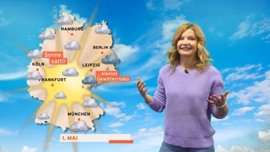 Weil RTL-Wetterfee nicht rechnen kann, muss sie im Job tricksen