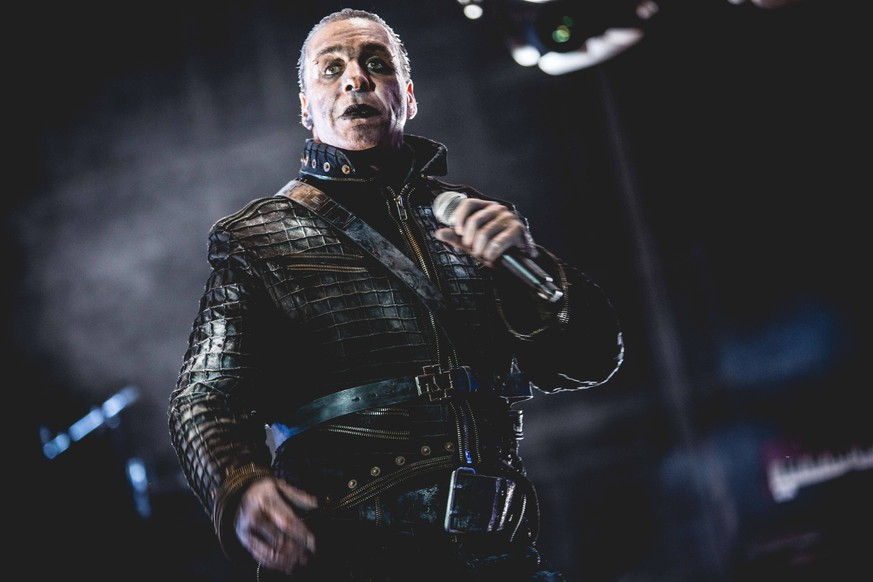 June 30, 2017 - Italia - The singer Till Lindemann in concert with the Rammstein at the heavy metal music festival Gods Of Metal staged at the Autodromo Nazionale Monza. Monza, Italy. 2nd June 2016 Italia PUBLICATIONxINxGERxSUIxAUTxONLY - ZUMAm169 20170630_zac_m169_351 Copyright: xFrancescoxCastaldox