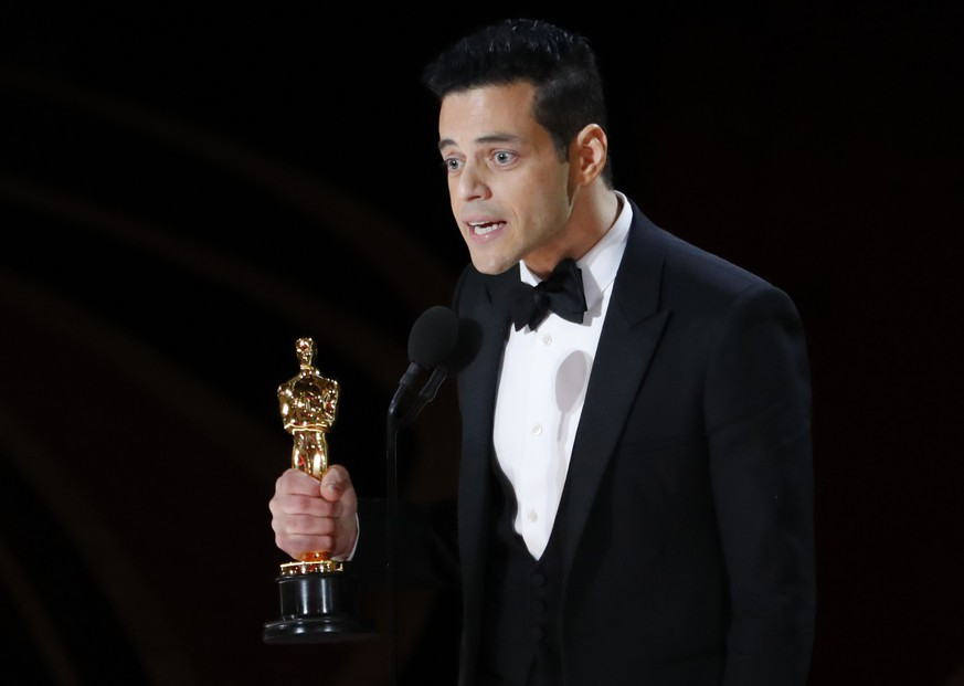 91st Academy Awards - Oscars Show - Hollywood, Los Angeles, California, U.S., February 24, 2019. Rami Malek accepts the Best Actor award for his role in