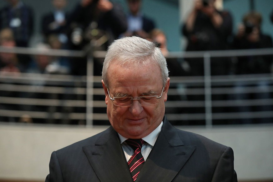 BERLIN, GERMANY - JANUARY 19:  Martin Winterkorn, former CEO of German automaker Volkswagen AG, arrives to testify at the Bundestag commission investigating the Volkswagen diesel emissions scandal on January 19, 2017 in Berlin, Germany. Following the arrest of several Volkswagen employees by the FBI in the United States investigations are now focusing on when Winterkorn and other members of the VW management team knew about the cheating software installed in millions of Volkswagen cars worldwide.  (Photo by Sean Gallup/Getty Images)