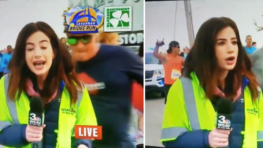 Live im TV: Jogger klatscht Reporterin auf Po – die Strafe folgt prompt