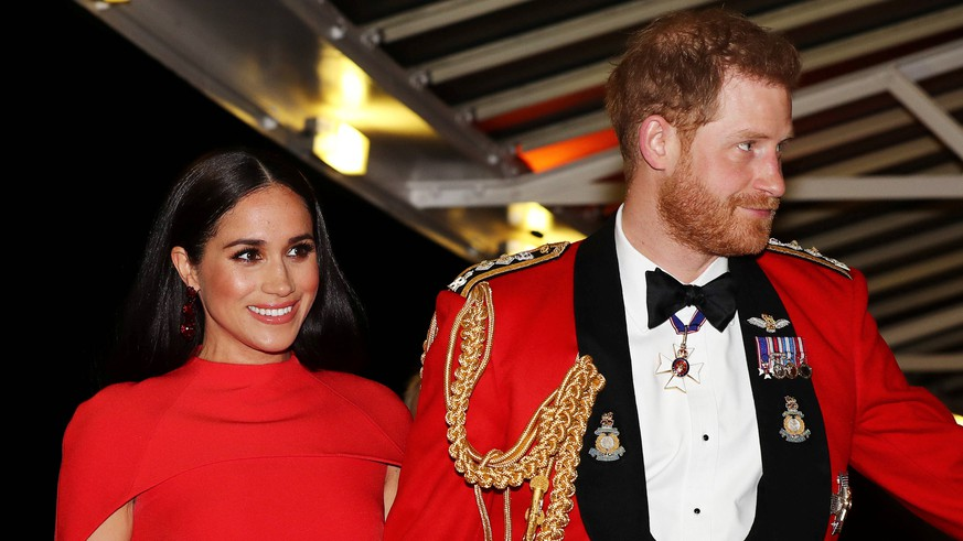 . 07/03/2020. London, United Kingdom. Prince Harry and Meghan Markle, the Duke and Duchess of Sussex, at the Mountbatten Festival of Music at the Royal Albert Hall in London. PUBLICATIONxINxGERxSUIxAUTxHUNxONLY xi-Imagesx/Poolx IIM-20867-0044