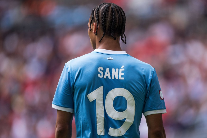 LONDON, ENGLAND - AUGUST 04: Leroy Sane of Manchester City during the FA Community Shield match between Liverpool and Manchester City at Wembley Stadium on August 4, 2019 in London, England. (Photo by Sebastian Frej/MB Media) SPO, SOC, FOC PUBLICATIONxINxGERxSUIxAUTxONLY Copyright: xSebastianxFrej/MBxMediax
