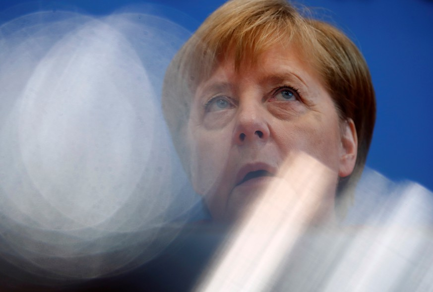 German Chancellor Angela Merkel holds the annual summer news conference in Berlin Germany