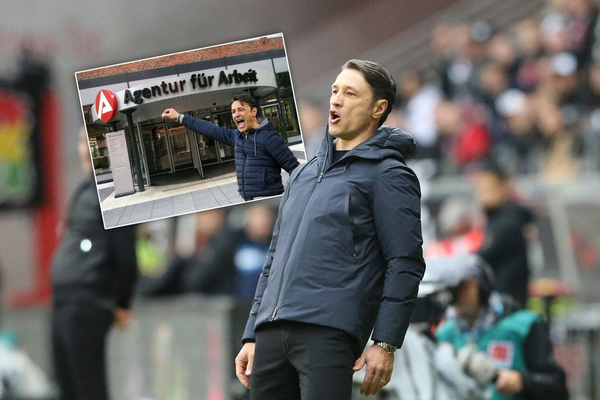 02.11.2019, xtvx, Fussball 1.Bundesliga, Eintracht Frankfurt - Bayern Muenchen emspor, v.l. Trainer Niko Kovac FC Bayern Muenchen gibt Anweisungen, gestikuliert, mit den Armen gestikulieren gives instructions, gesticulates DFL/DFB REGULATIONS PROHIBIT ANY USE OF PHOTOGRAPHS as IMAGE SEQUENCES and/or QUASI-VIDEO Frankfurt am Main *** 02 11 2019, xtvx, football 1 Bundesliga, Eintracht Frankfurt Bayern Muenchen emspor, v l coach Niko Kovac FC Bayern Muenchen gives instructions, gesticulated, gesticulate with arms gives instructions, gesticulates DFL DFB REGULATIONS PROHIBIT ANY USE OF PHOTOGRAPHS as IMAGE SEQUENCES and or QUASI VIDEO Frankfurt am Main