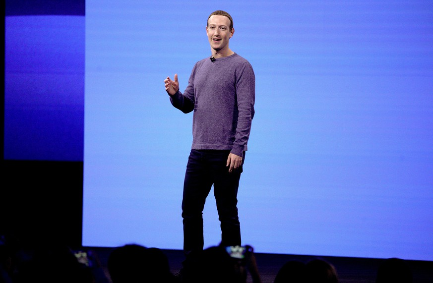 Facebook CEO Mark Zuckerberg makes the keynote speech at F8, the Facebook's developer conference, Tuesday, April 30, 2019, in San Jose, Calif. (AP Photo/Tony Avelar )