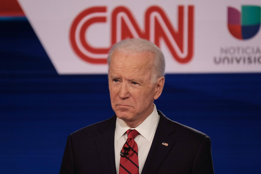 March 15, 2020, Washington, District of Columbia, USA: Former Vice President JOE BIDEN and Vermont Sen. BERNIE SANDERS participate in the Democratic Presidential Debate. Because of concerns about the coronavirus, the debate was moved from Phoenix to Washington, D.C. Washington USA PUBLICATIONxINxGERxSUIxAUTxONLY - ZUMA 20200315mdaz03135 Copyright: xCNNx