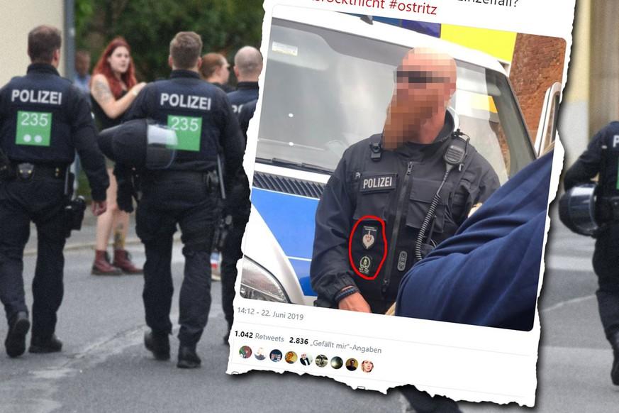 Polizei Beamter Trägt Auf Nazi Festival Strittige Abzeichen