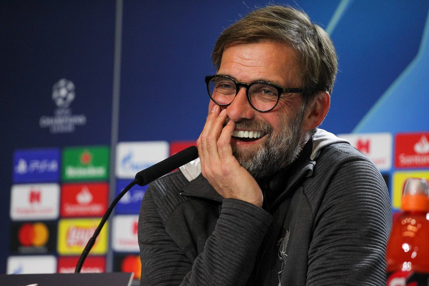 Sport Bilder des Tages February 17, 2020, Madrid, MADRID, SPAIN: MADRID, SPAIN - JANUARY 17: Jurgen Klopp of Liverpool FC during press conference, PK, Pressekonferenz the day before the Champions League football match between Atletico de Madrid and Liverpool at Wanda Metropolitano on January 17, 2020 in Madrid, Spain. Soccer: Champions League - At Madrid v Liverpool PUBLICATIONxINxGERxSUIxAUTxONLY - ZUMAa181 20200217zaaa181213 Copyright: xAFP7x