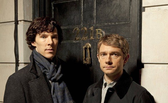 June 15, 2010 - .....Benedict Cumberbatch and Martin Freeman.. Sherlock TV Programme. - 2010..Sherlock A fast-paced, witty take on the legendary Sherlock Holmes crime novels, now set in present day London and starring Benedict Cumberbatch (The Last Enemy) as the Baker Street sleuth and Martin Freeman (The Office UK) as his loyal sidekick Doctor Watson..Shown: Benedict Cumberbatch as Sherlock Holmes and Martin Freeman as Dr. Watson. PUBLICATIONxINxGERxSUIxAUTxONLY - ZUMArx90 20100615_sff_rx90_784 Copyright: xHartswoodxFilmsx