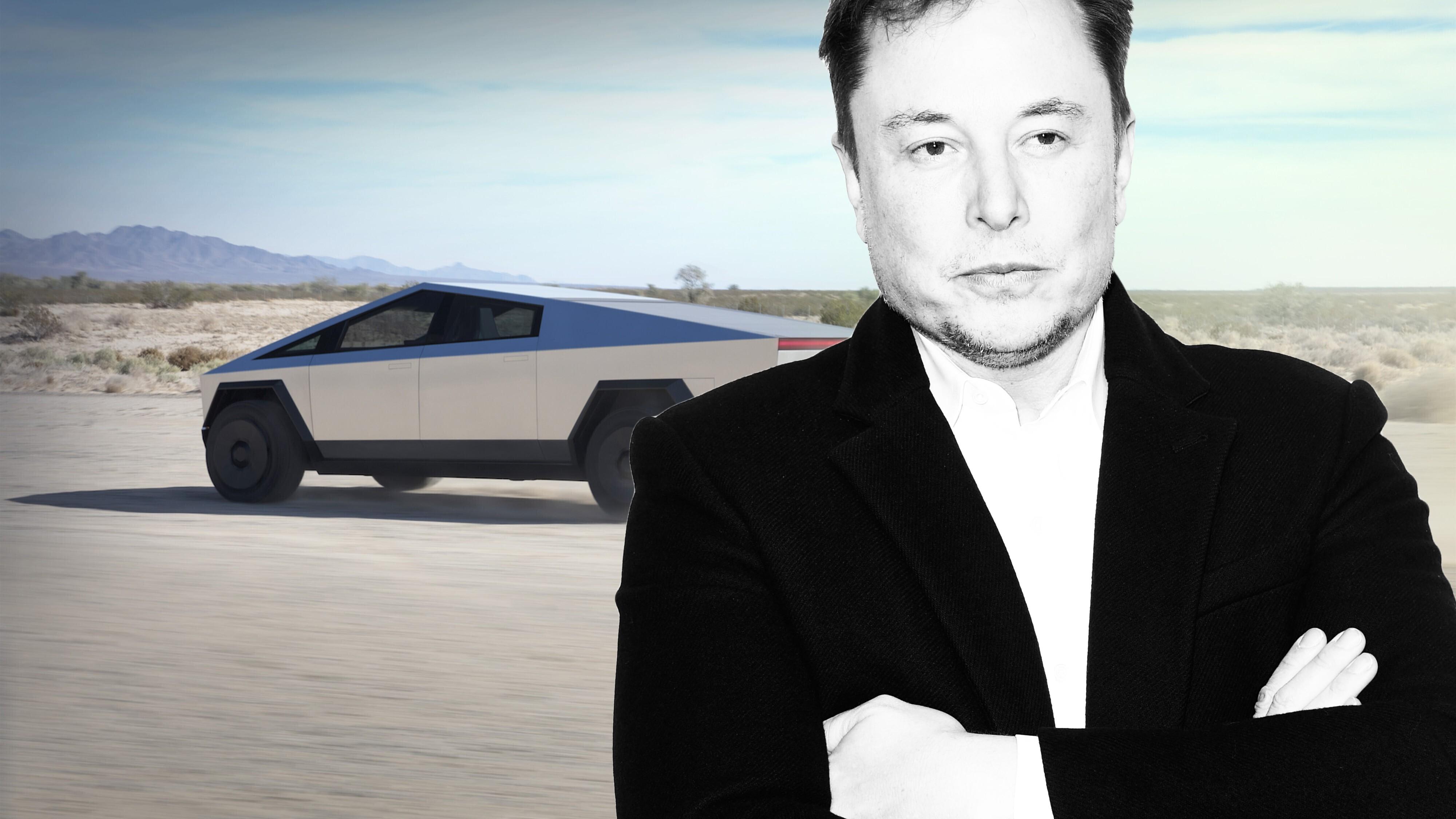 Tesla-Chef fährt mit Cybertruck durch LA – und baut einen Unfall