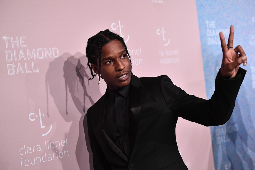 NEW YORK, NY - SEPTEMBER 13:  ASAP Rocky attends Rihanna's 4th Annual Diamond Ball benefitting The Clara Lionel Foundation at Cipriani Wall Street on September 13, 2018 in New York City.  (Photo by Dimitrios Kambouris/Getty Images for Diamond Ball)